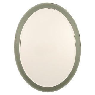 Italian Oval Shaped Beveled Wall Mirror in the Style of Fontana Arte 7709