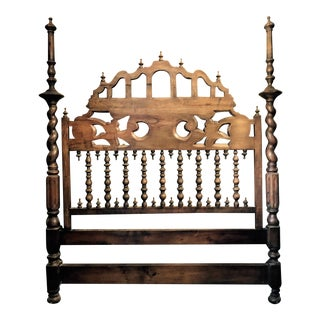 Handcarved Oak Queen Headboard