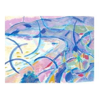 """Pacific Coast"" Plein Air Watercolor Painting"