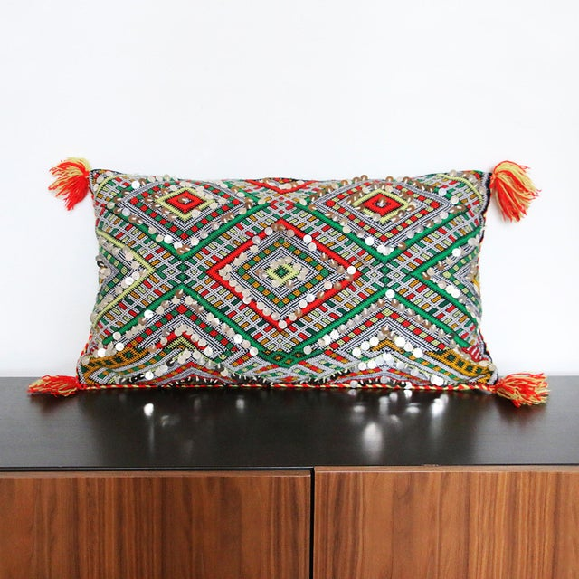 Handcrafted Moroccan Kilim Pillow II - Image 2 of 7
