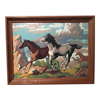 Vintage Wild Horses Paint by Number