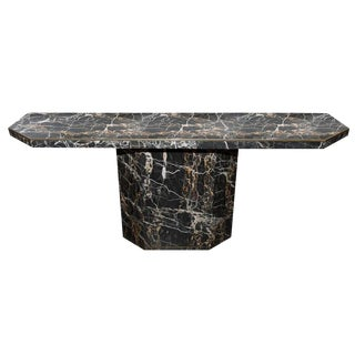 1970s Willy Rizzo Style Marble Console Table