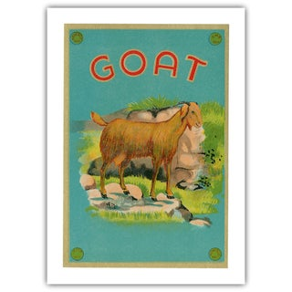 Vintage 'Goat Fabric Label' Archival Print
