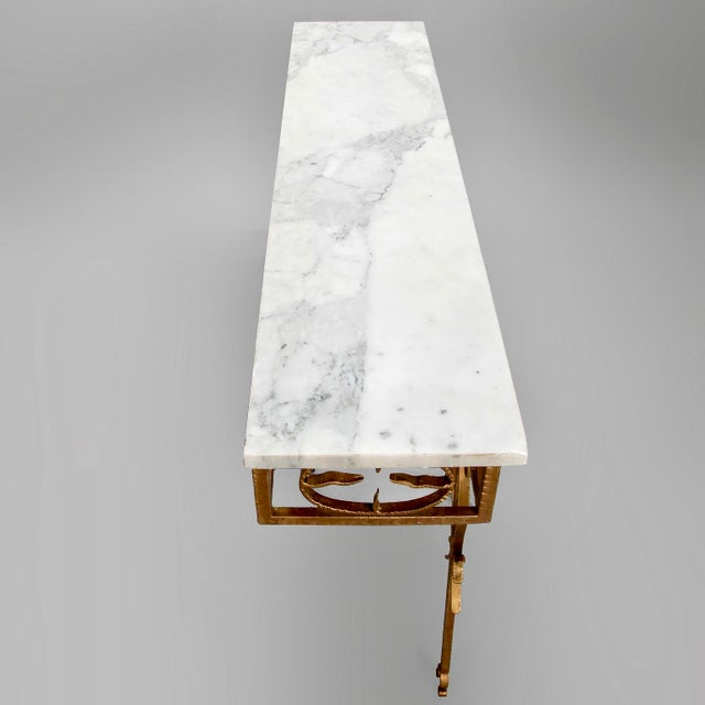 Spanish Wall Hung Console with Gilt Metal and Marble Top - Image 2 of 8