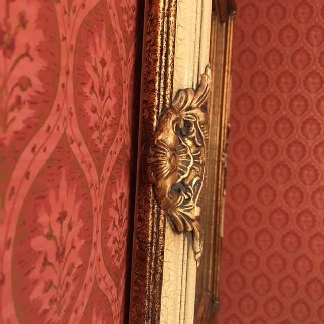 Image of Vintage Carved Wood & Burnished Gilt Mirror