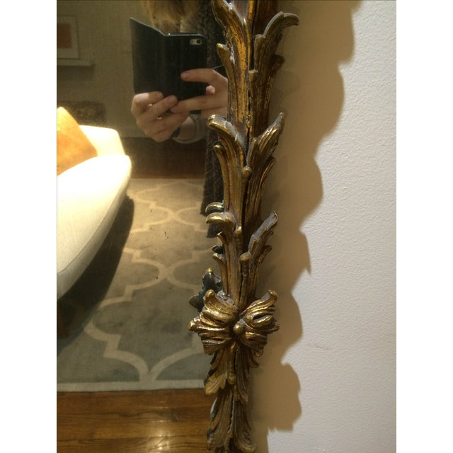 Vintage 1950s Rectangular Gilded Mirror - Image 8 of 8