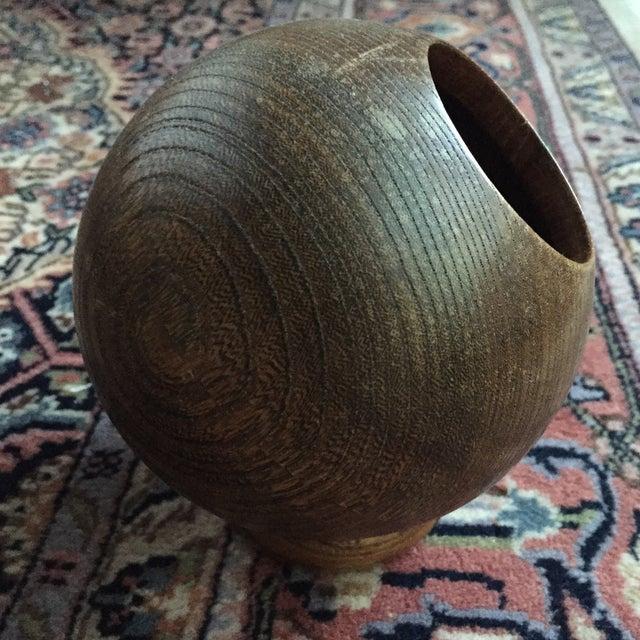 Vintage Round Wooden Dish - Image 5 of 6