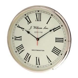 Westminster Chrome Wall Clock