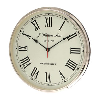 Westminster Chrome Wall Clock
