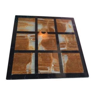 Marble Tile Trivet Natural Stone Square Plate