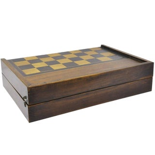 19th Century French Backgammon & Checkers Game