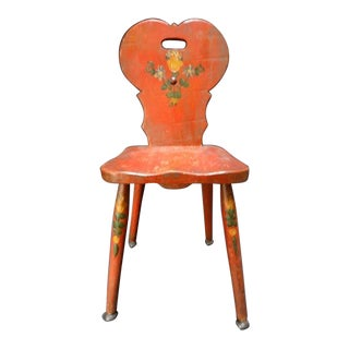 Monterey Classic Red Keyhole Chair