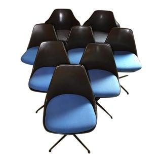 Mid-Century Vintage Burke Tulip Chairs - Set of 8
