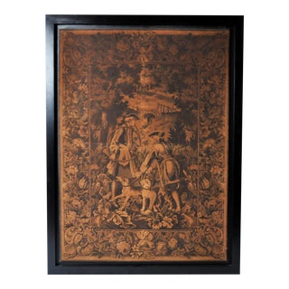 Hunting Tapestry in Frame