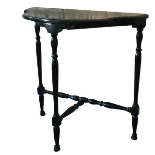 Black Canted Corner Table