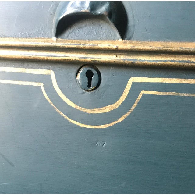 Large English Metal Strong Box - Image 8 of 11