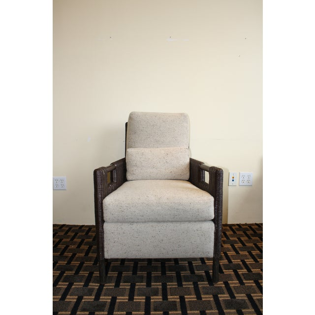 McGuire Thomas Pheasant Woven Core Club Chair - Image 2 of 8