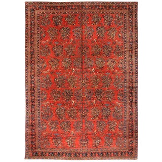 Extremely Fine Antique Oversize Persian Lilihan Carpet