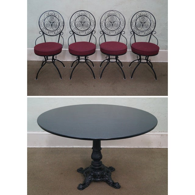 5-Piece Scrolled Iron Bistro Dining Set - Image 2 of 10