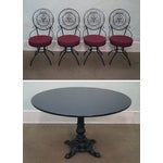 Image of 5-Piece Scrolled Iron Bistro Dining Set