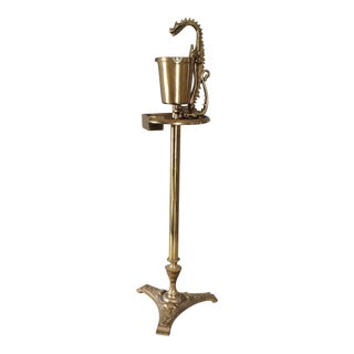 Art Deco Figural Dragon Brass Smoking Stand