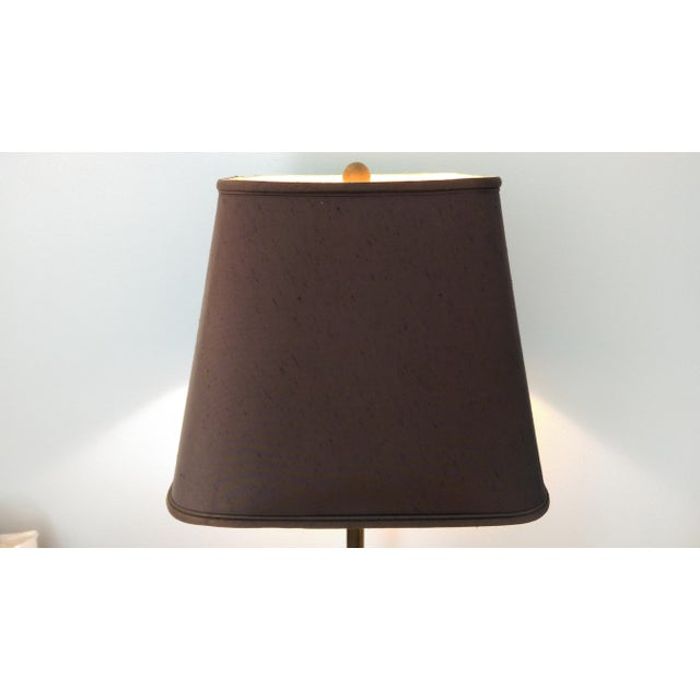 Modern Unlacquered Brass Floor Lamp - Image 10 of 10