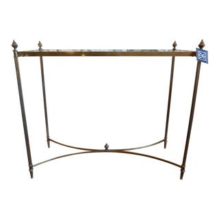 Brass and Glass Petit Console Table