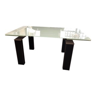 Bontempi Casa Mistrak Glass Extendable Dining Table