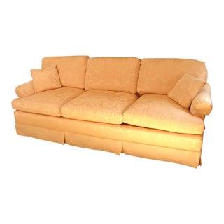 Vintage Baker Furniture Pink Damask Down Filled Sofa