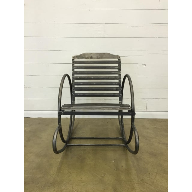 Wrought Iron Porch Rocking Chair - Image 2 of 8