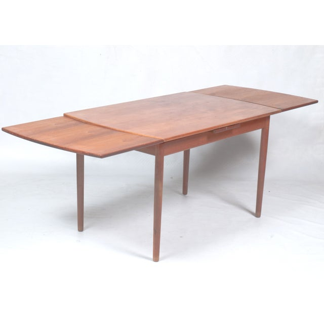 mid century teak expandable dining room table chairish