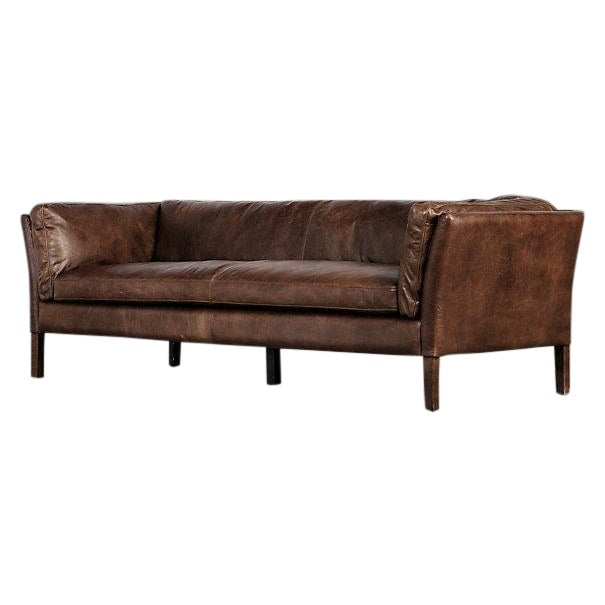 Restoration Hardware 7 39 Sorensen Leather Sofa Chairish