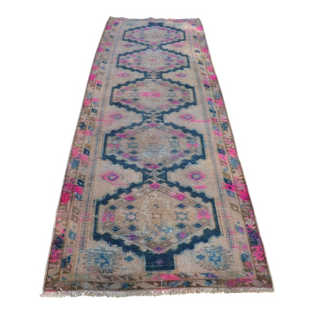 Antique Persian Runner Rug - 3′2″ × 9′11″ - Image 1 of 6