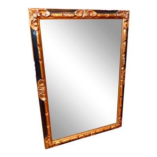 Vintage Distressed Black & Gold Rectangular Wall Mirror