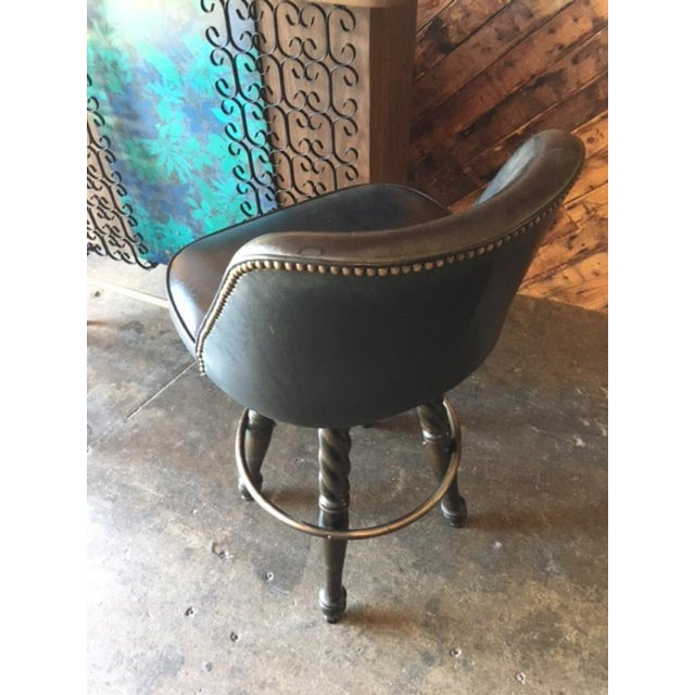 Mid Century Free Standing Bar with 2 Vinyl Stools - Image 11 of 11