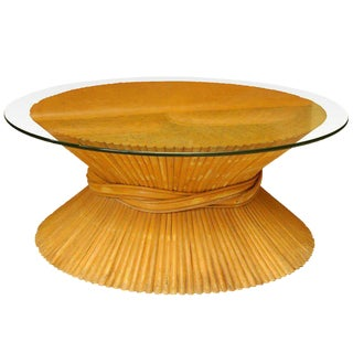 Mid-Century Wheat-Sheaf Coffee Table