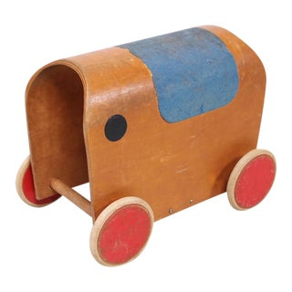 Mid-Century European Elephant Toy Car