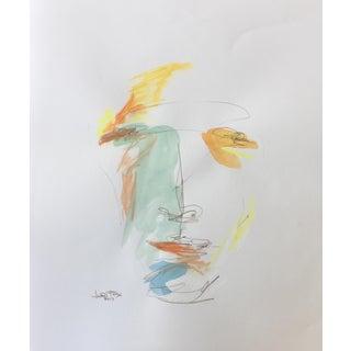 "Face 001 ""Joy"" Watercolor Painting"