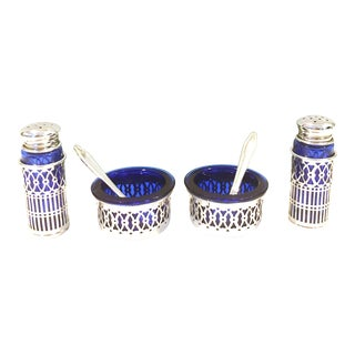 Raimond Japan Silver Salt Cellar Pepper Shaker Set