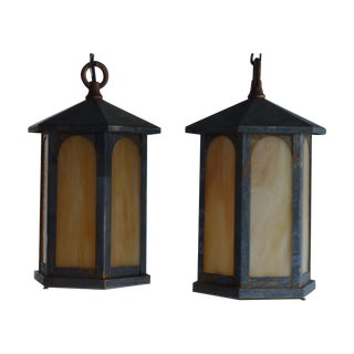 Arts & Crafts Lanterns - A Pair