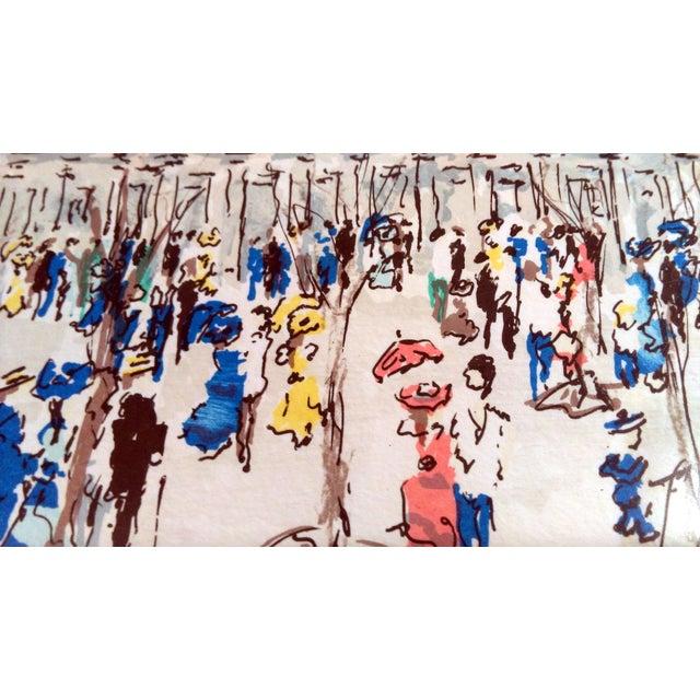 "Urbain Hutchet ""Paris, Palais Royal Ii"" Lithograph - Image 5 of 7"