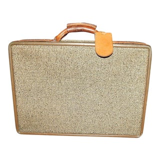 Vintage Leather & Tweed Hartman Briefcase
