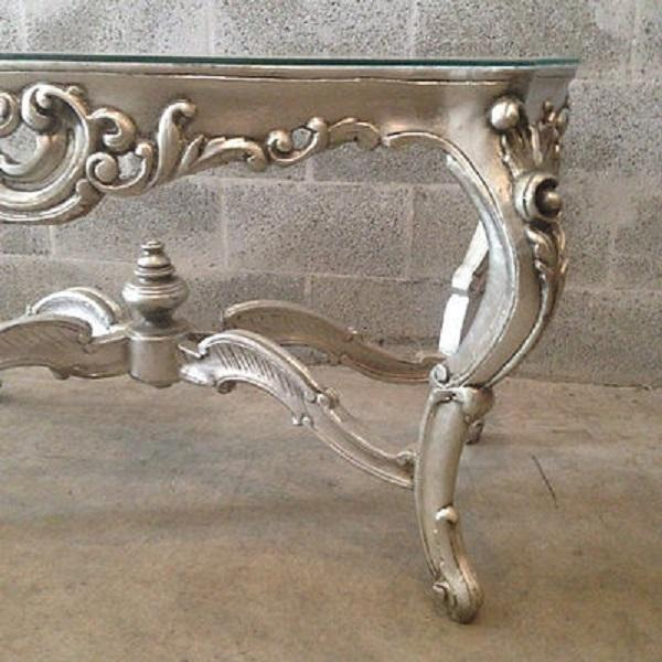 Silver And Glass Elegant Coffee Table Chairish