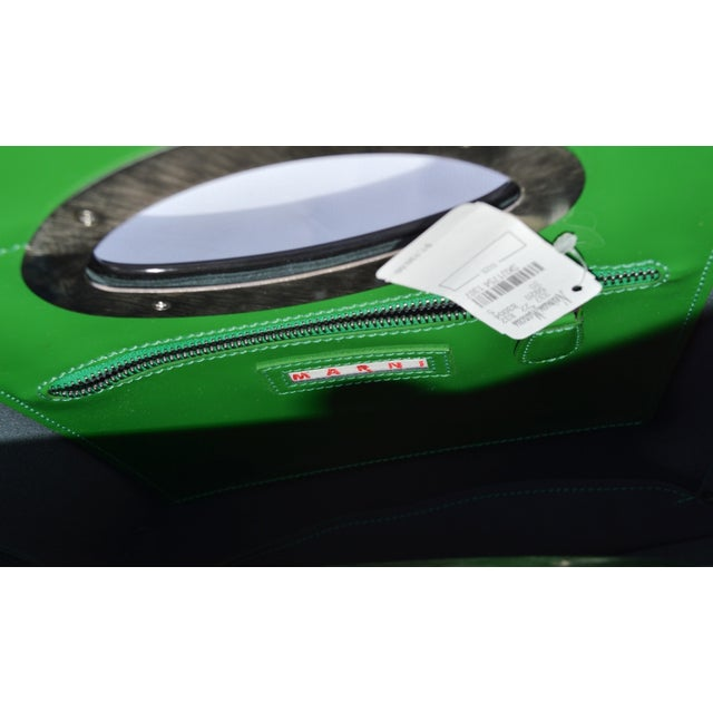 Image of Marni Patent Leather Tote Borsa a Mano Green