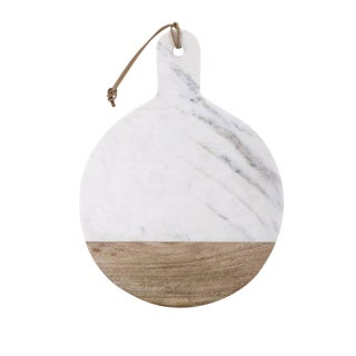 Round Marble & Wood Cheese Board