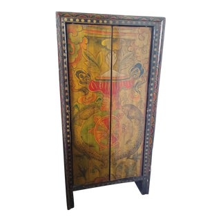 Lacquered Softwood Cabinet