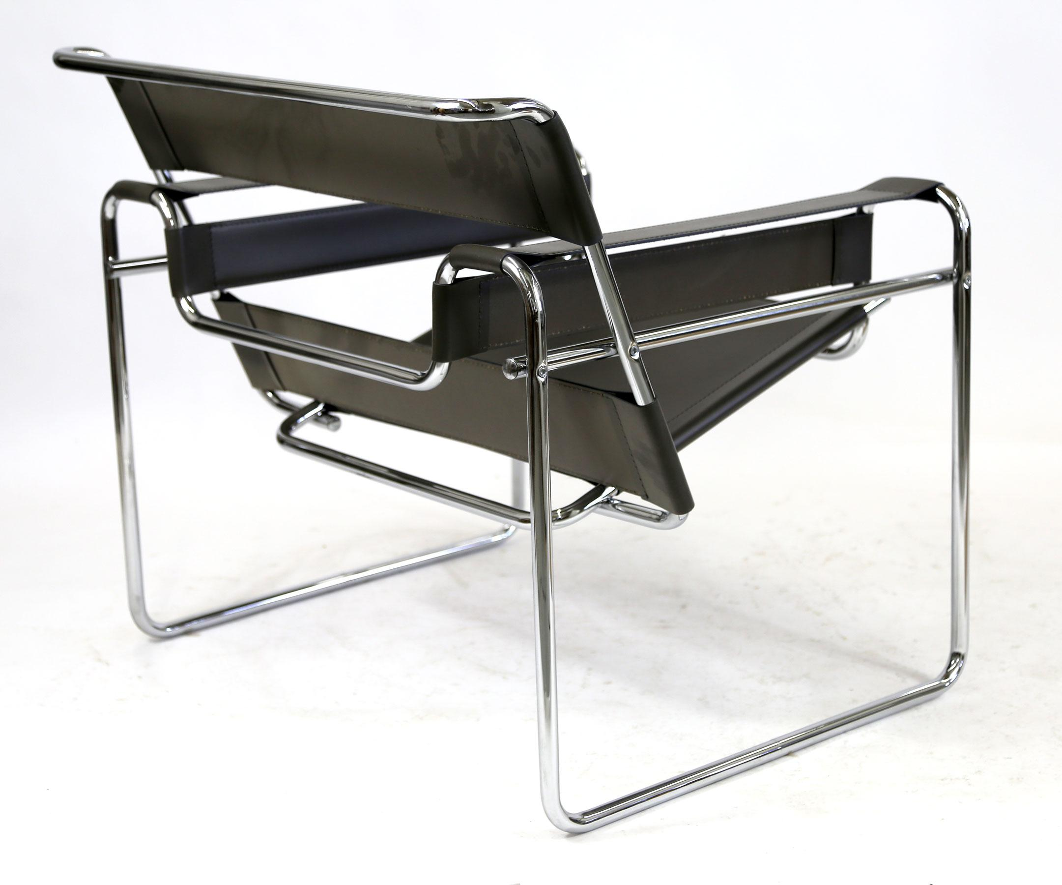 Wassily Chair reproduction wassily chair marcel breuer black leather and chrome