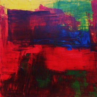 Abstract Modern Red, Blue, Green & Yellow Original Paul Ashby