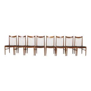 Arne Vodder Danish Modern Spindle Back Dining Chairs - Set of 8