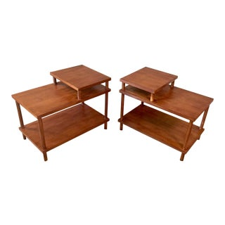 T.H. Robsjohn-Gibbings Tiered End Tables - A Pair